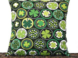 March Shamrocks Pillow Cover