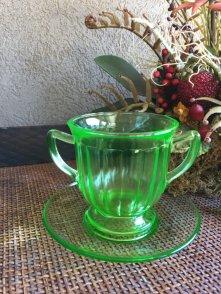 https://www.etsy.com/listing/473655008/vintage-green-glass-dessert-dish-w?