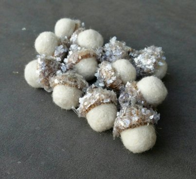 https://www.etsy.com/listing/487211185/wool-needle-felted-acorns-winter-white?