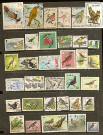 https://www.etsy.com/listing/487346647/birds-on-vintage-used-postage-stamps-34?
