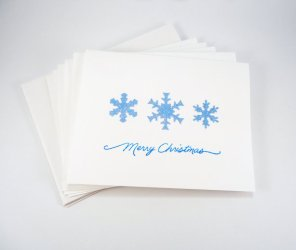https://www.etsy.com/listing/166657679/blue-christmas-card-set-snowflake-cards?