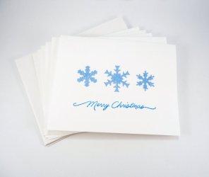 https://www.etsy.com/listing/166657679/blue-christmas-card-set-snowflake-cards?