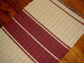https://www.etsy.com/ca/listing/167508563/cream-and-cranberry-handwoven-wool-rug?