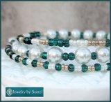 https://www.etsy.com/ca/listing/474782408/teal-glass-white-pearl-bracelet-green?