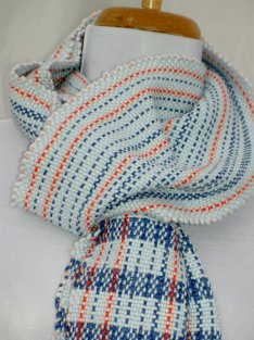 https://www.etsy.com/ca/listing/114207247/striped-blue-scarf-with-coral-accents?