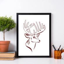 https://www.etsy.com/ca/listing/482101256/stag-deer-print-deer-wall-art-white?