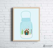 https://www.etsy.com/ca/listing/557749468/mason-jar-snow-globe-christmas-wall-art?
